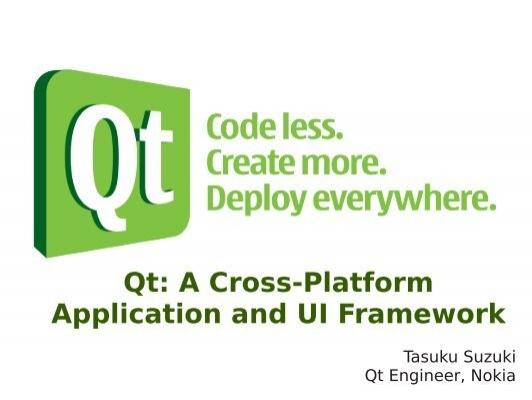 cross platform application and ui framework