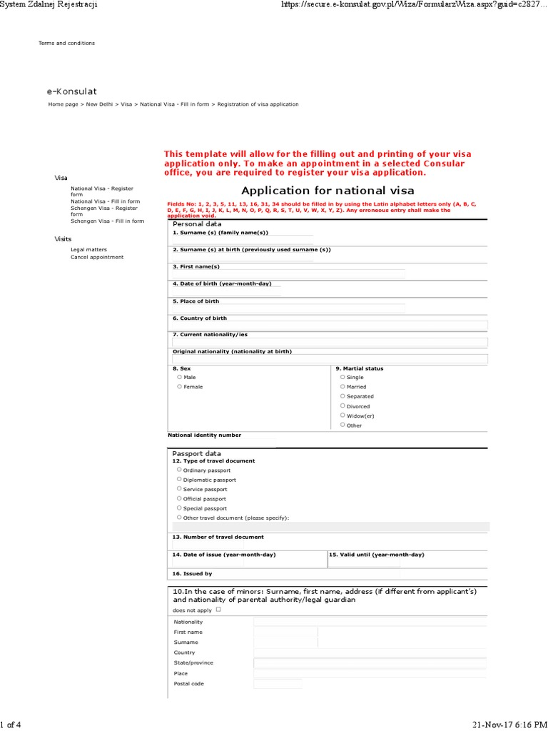 online application for indian police clearance certificate