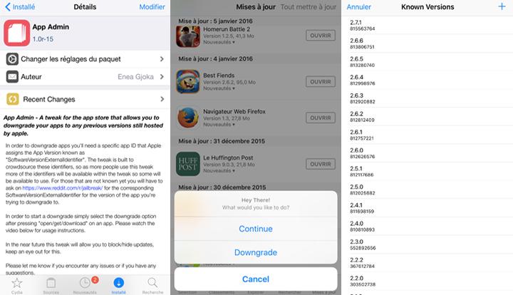 comment telecharger une ancienne version d une application iphone