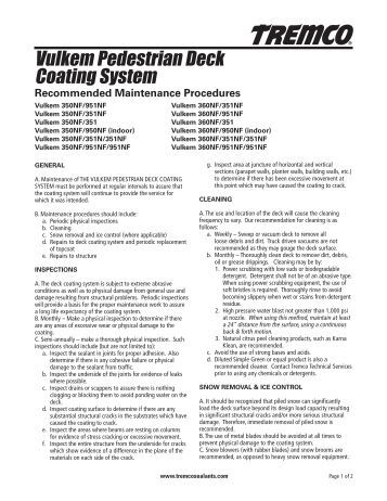 tremco 350 351 application instructions