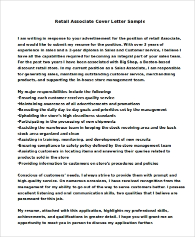 cover letter for job application without advertisement sample