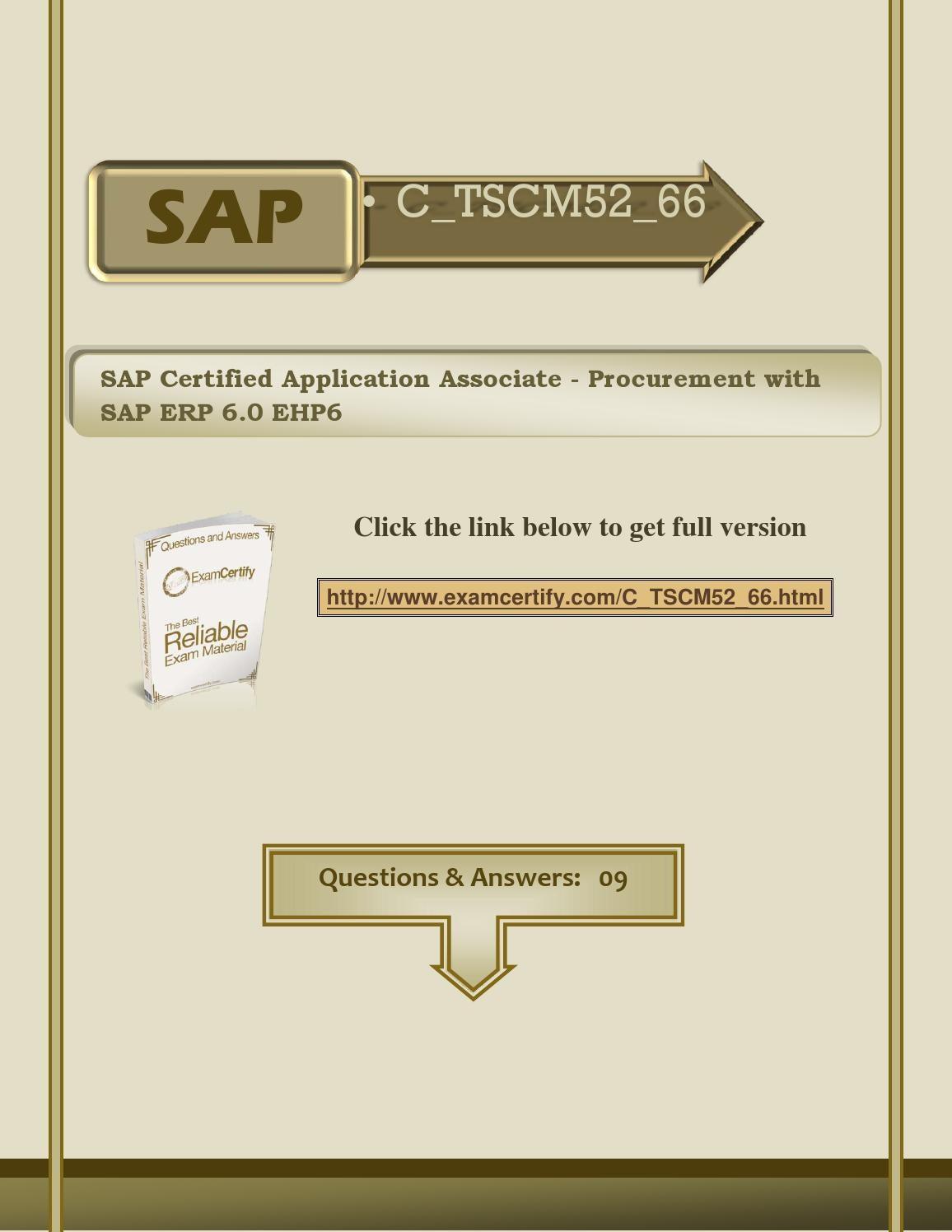 sap certified application associate procurement with sap erp 6.0 ehp6