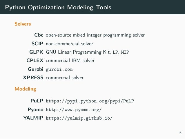 applications of optimization with xpress mp