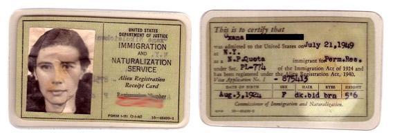 american green card application form