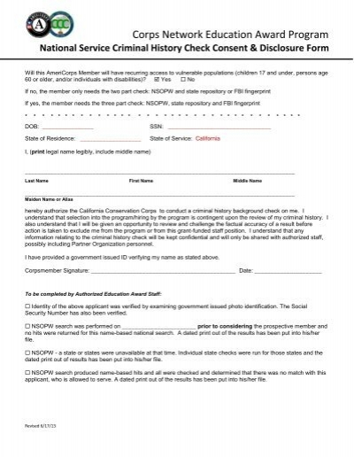 national crime check application form