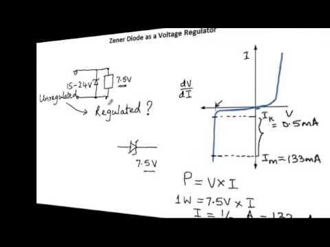 application of zener diode as voltage regulator