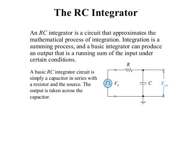 applications of integrator and differentiator