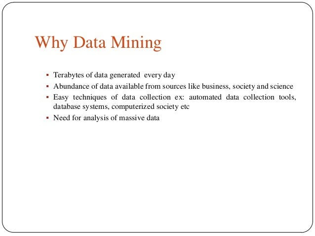 data mining and its applications