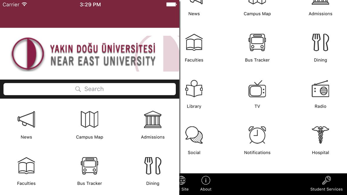 near east university online application