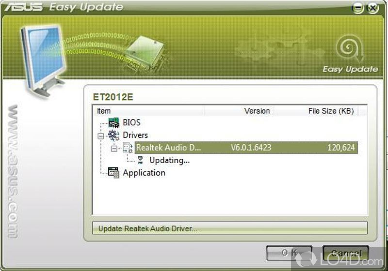 asus manager update application driver bios download