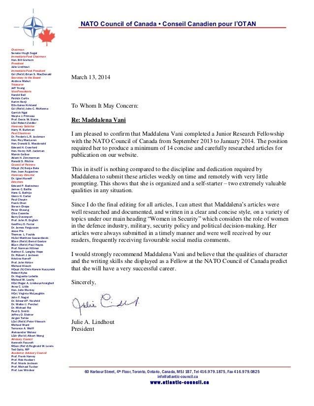 reference letter for university application