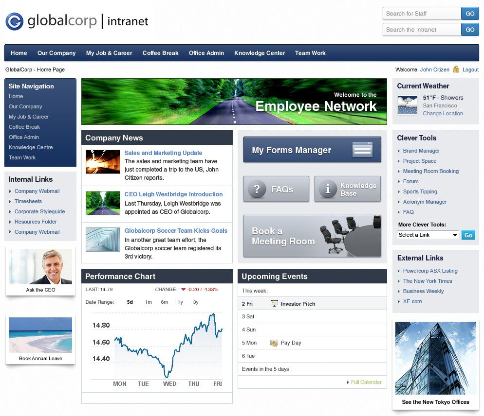 example of website and web application