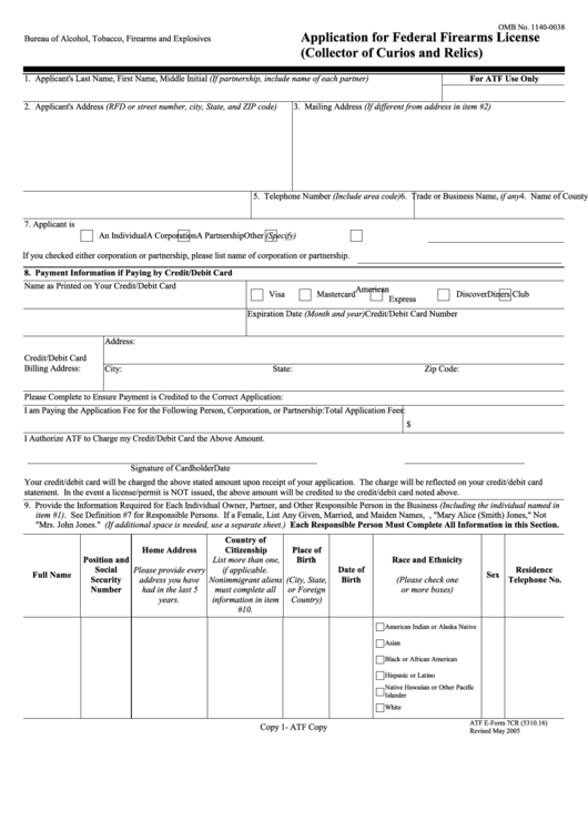 firearms license renewal application form