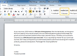 examples of word processing application