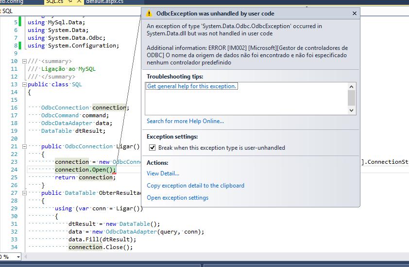 mysql connection string in c# windows application