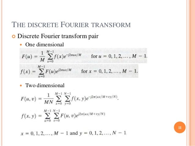 applications of fourier transform in image processing