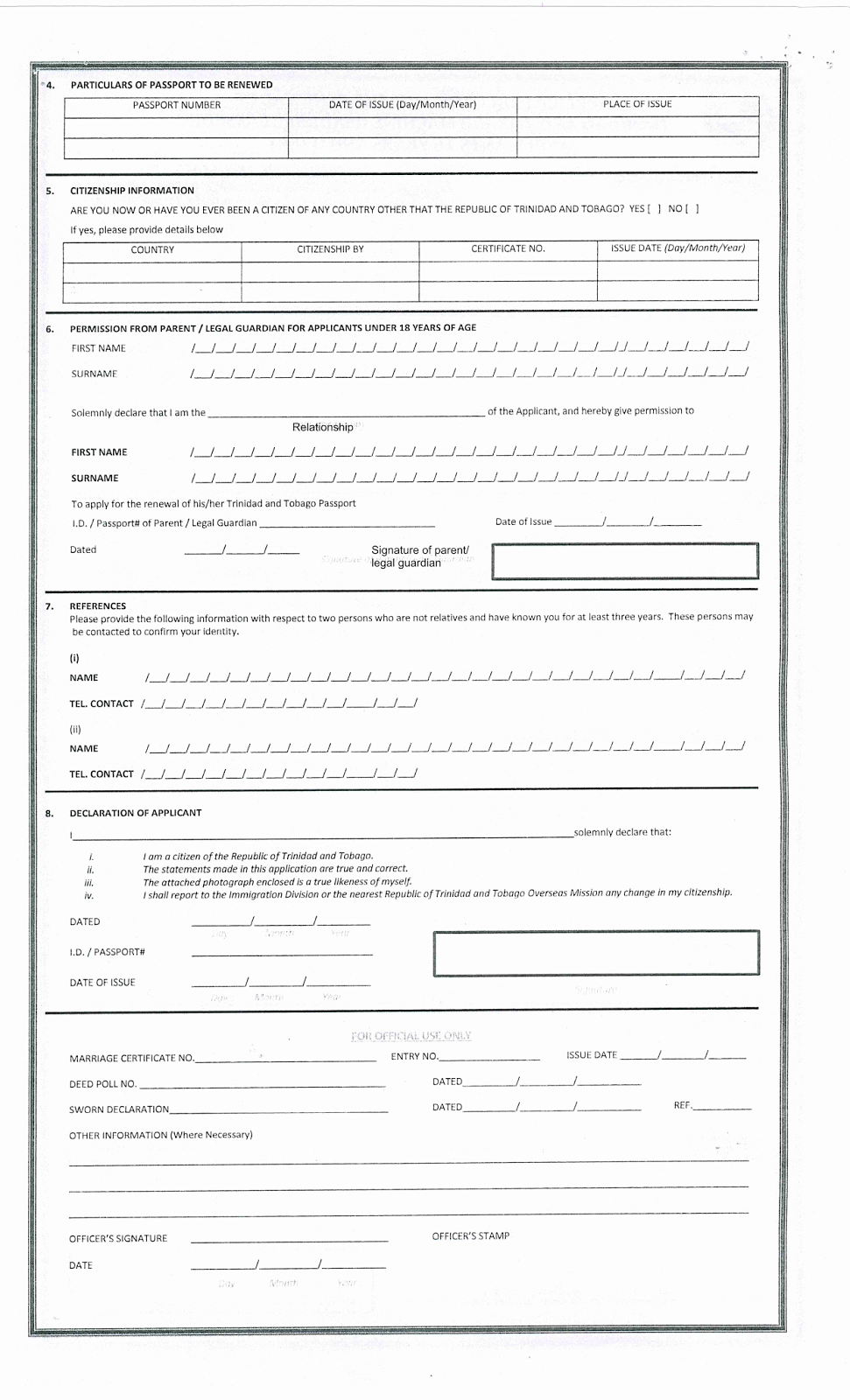 nexus renewal application form canada