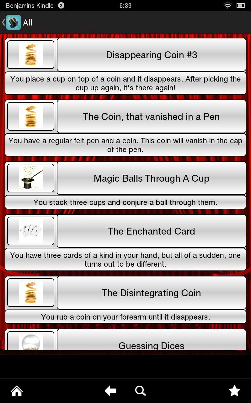 application de magie pour android