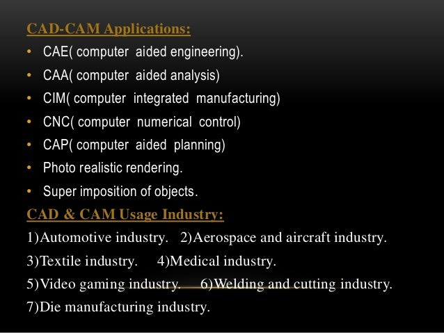 application of computer in manufacturing industry