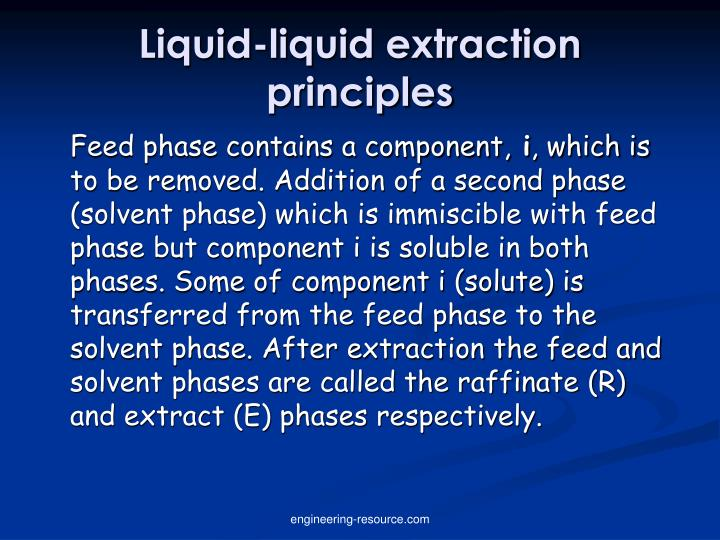 application of distribution law in solvent extraction