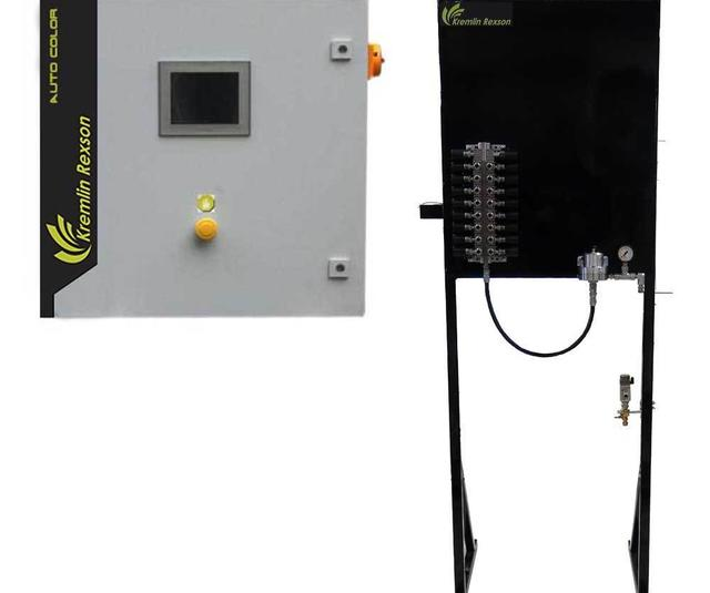 automatic spray painting system for industrial application