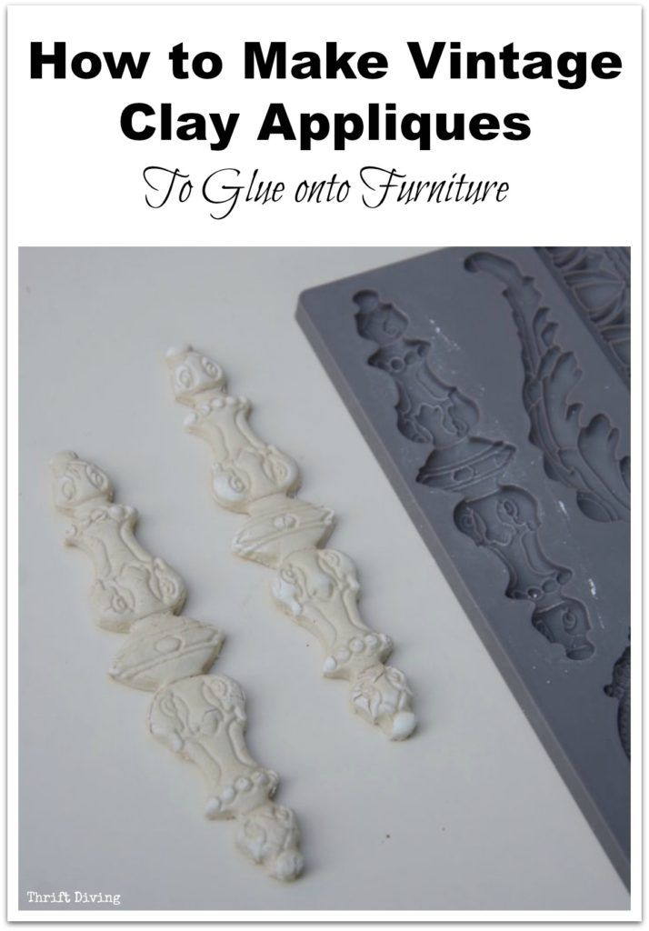 adding wood appliques to furniture