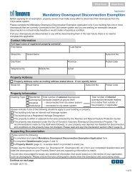 mandatory downspout disconnection exemption application