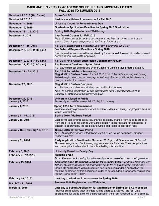 capilano university application deadline fall 2018