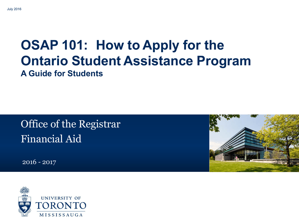 osap application for full time students
