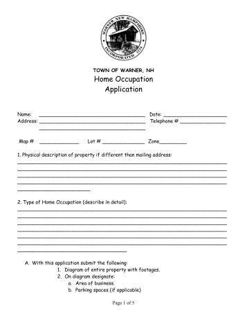 occupation meaning in application form