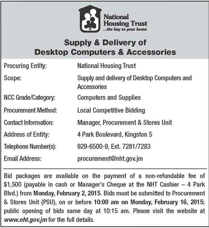 www nht gov jm application form