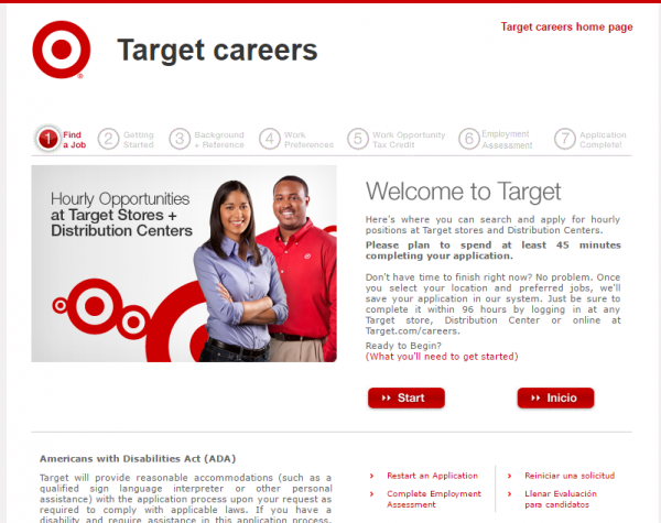 target com jobs online application