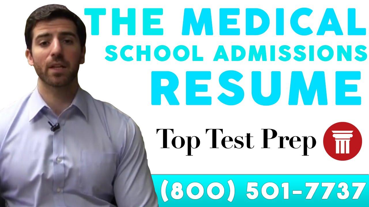 cv for medical school application