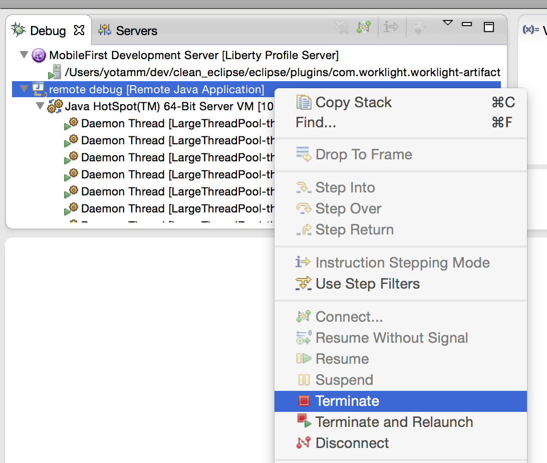 how to debug a java application in eclipse