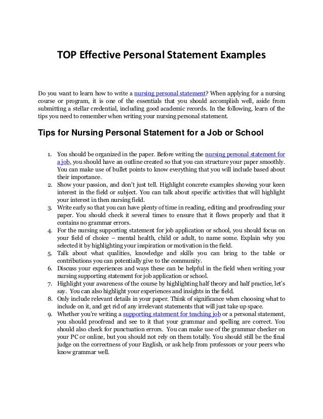 how to write a personal statement for university application