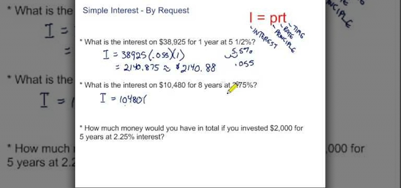 interest formulas and their applications