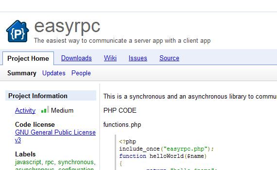 jquery framework for web application