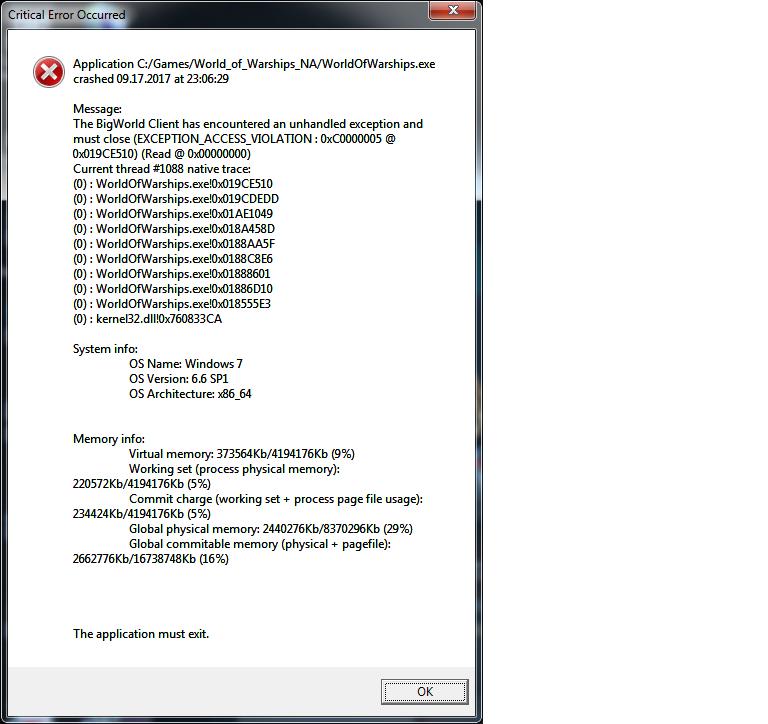 lol client exe application error