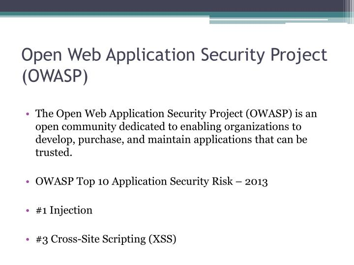 open web application security project owasp