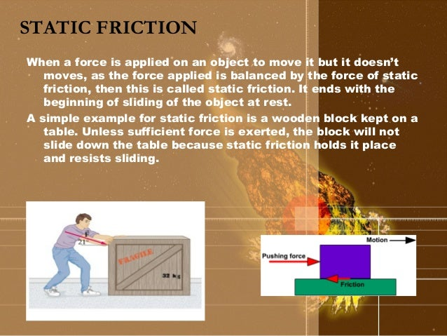 real life application of friction