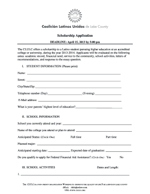 scholarship application letter financial need