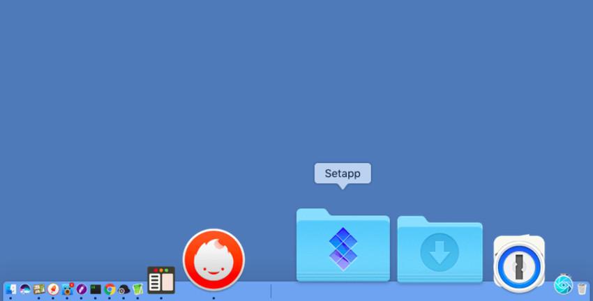show applications folder in dock