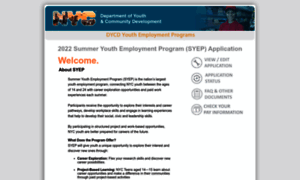 summer youth employment program application