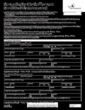 sun life life insurance application form