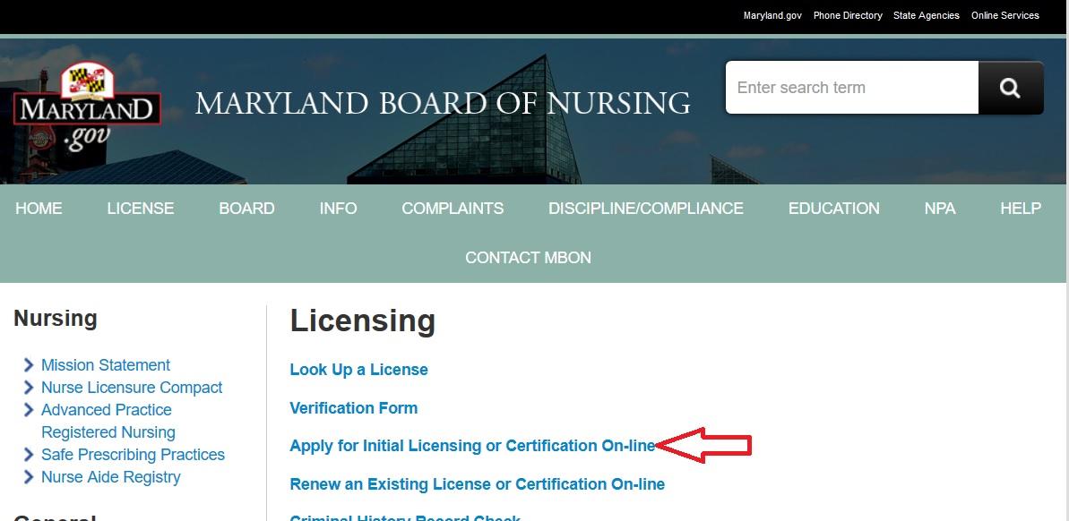vocational nurse initial application for licensure